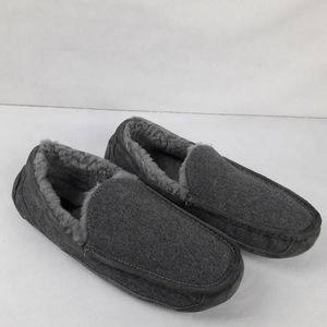 Ugg Gray Slipper Mens 13 Lined Suede